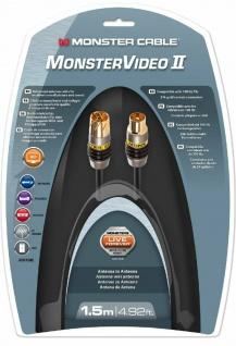 Monster HQ 1, 5m Antennen-Kabel Digital Koaxial-Kabel Koax-Kabel UHD-TV HD-TV