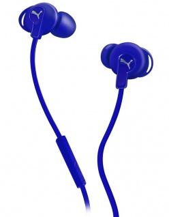 Puma Bulldogs Headset In-Ear + Mic Blue Sport Kopfhörer Ohrhörer Fernbedienung