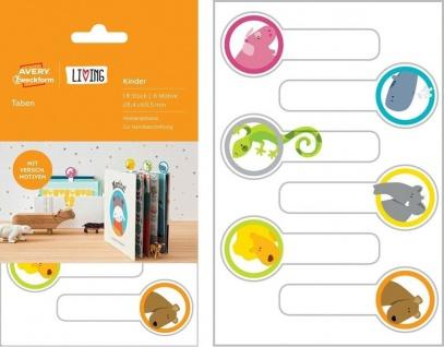 Avery 18x Taben Buch-Etiketten Lesezeichen Sticker Hefte Kinder-Bücher Schule