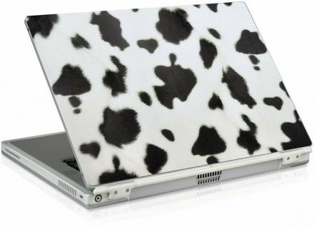 "Notebook Skin 14"" 15"" 15, 4"" Plüsch Kuh-Fell Aufkleber Laptop Sticker Schutzfolie"