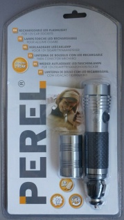Perel LED Taschenlampe mit 12V Kfz Netzteil Adapter Lampe hell Auto PKW LKW etc