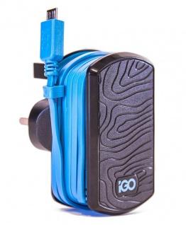 iGo Ladekabel Micro-USB Ladegerät Stecker-Netzteil Lader Smartphone Handy Navi