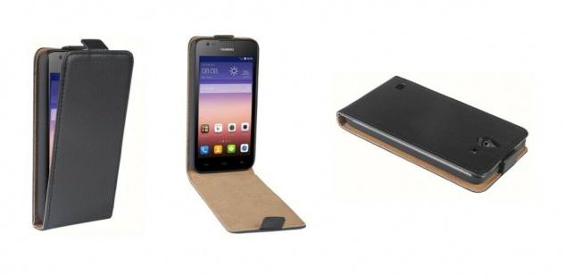 Patona Slim Cover Klapp-Tasche Schutz-Hülle Cover Case für Huawei Ascend Y550