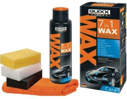 QUIXX 7in1 Wachs Set Auto-Versiegelung Leder-Pflege Scheinwerfer-Pflege Felgen