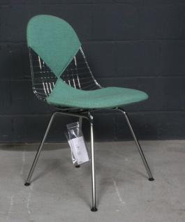 Vitra Charles Eames Wire Eifel-Chair DKR-2 Bikini-Bezug Stoff grün Chrom-Gestell