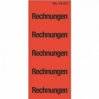 Avery Zweckform 100x Inhalts-Schild Rechnungen Ordner-Etiketten Rücken-Schild