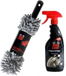 Extreme Clean Auto-Pflege Felgen-Reiniger + Felgen-Bürste Wasch-Bürste Alufelgen