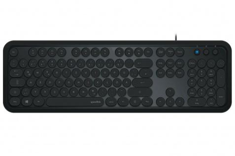 SpeedlinkUSB Multimedia Tastatur QWERTZ Retro-Tasten Deutsch PC Office Business