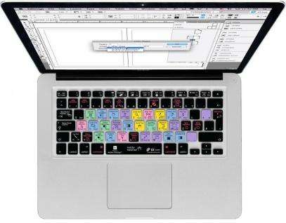 Tastatur-Abdeckung Shortcuts Hotkeys Skin für Adobe InDesign MacBook Pro / Air