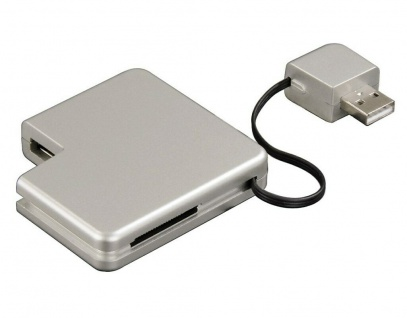 Hama USB Hub + 32in1 Card-Reader Adapter Kartenleser für SD MS PRO DUO SM MMC