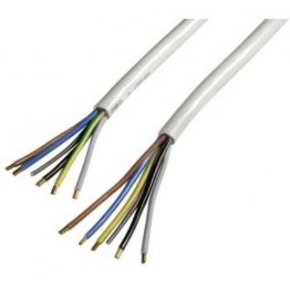ScanPart Zuleitung für Elektroherd 1, 5m Kabel 5x2, 5mm° offene Enden Weiß