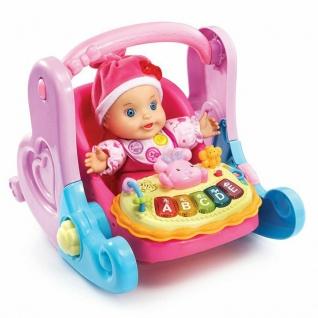 Vtech Little Love Serie 4in1 Baby-Schale Puppen-Zubehör Puppen-Trage Wippe - Vorschau 3