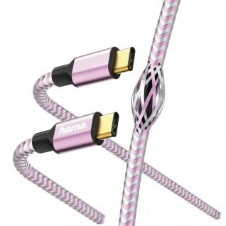 Hama USB-C Lightning Ladekabel Daten-Kabel Vergoldet 1, 5m für Smartphone Tablet