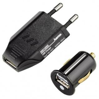 Hama Lade-Set Piccolino USB Ladegerät + Kfz-Lader Adapter für MP3 Player iPod