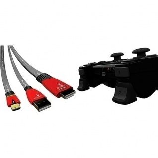 Gioteck Zubehör-Paket USB-Kabel HDMI-Kabel Tasten für PS3 Konsole + Controller