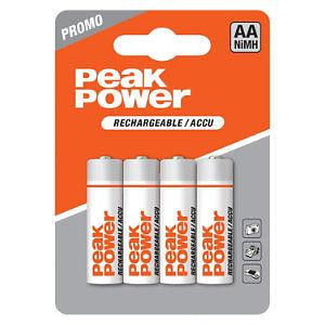 GP Batteries Peak Power Pack 4x AA-Akku 2050mAh 1, 2V Mignon HR6 Batterie AA Akku