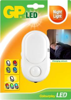 GP Lighting LED Nachtlicht mit Bewegungssensor Colorplay LED-Licht Leuchte Lampe