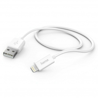 Hama Ladekabel Lightning 1m Daten-Kabel Vernickelt für Apple iPhone iPod iPad