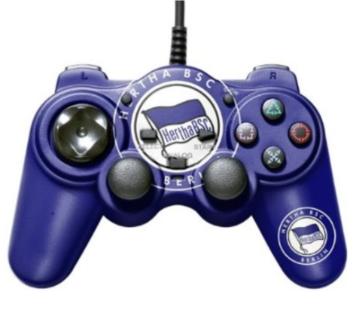 Bigben Controller Hertha BSC Berlin Pad Gamepad für Sony Playstation 2 PS2 PS1