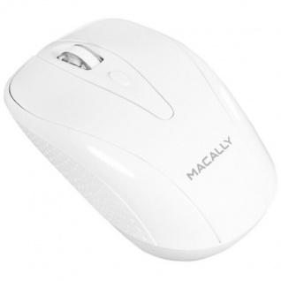 Macally Optische USB Funk-Maus 3-Tasten Wireless Mouse Weiß für Mac PC Notebook