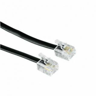 Hama Telefon-Kabel Modular-Kabel 6p4c RJ11 Stecker Westernkabel Fax Modem AB etc