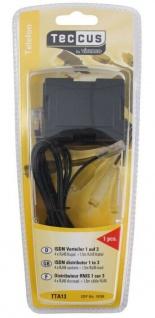 Vivanco ISDN Y-Adapter 3-Fach Verteiler 1 > 3 Splitter RJ45 8P4C NTBA Telefon