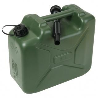 Cartrend Kraftstoff-Kanister 10L Nato Reserve-Kanister Benzin-Kanister 10 Liter
