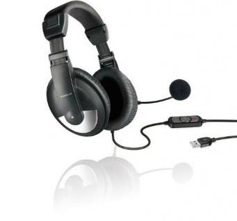Speedlink USB Multimedia Headset integrierte Soundkarte Kopfhörer Mikrofon Skype