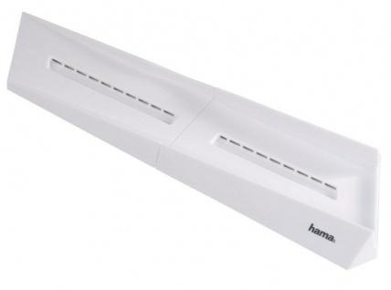 Hama Design Standfuß weiß Stand vertikal Ständer Halterung für Sony PS4 Konsole