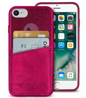 Puro Shine Pocket Cover Case Schutz-Hülle Tasche für Apple iPhone 7 8 SE 2020