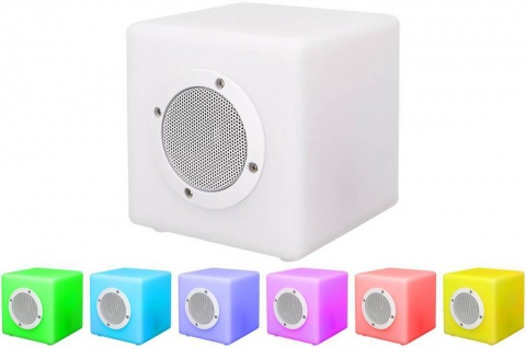 Bigben Outdoor Bluetooth Lautsprecher LED Color Cube Boxen Party-Box DJ HiFi BT