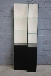 Standvitrine Ladenausstattung Schrank Regal Glas schwarz Vitrine Ausstellung
