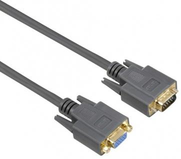 Hama VGA Verlängerungs-Kabel 1, 8m Monitor Verlängerung SUB-D Kabel PC TV Beamer