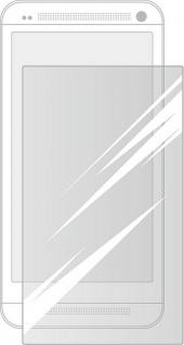 Cellux Displayschutzfolien für HTC One transparent 3er Set + Microfasertuch
