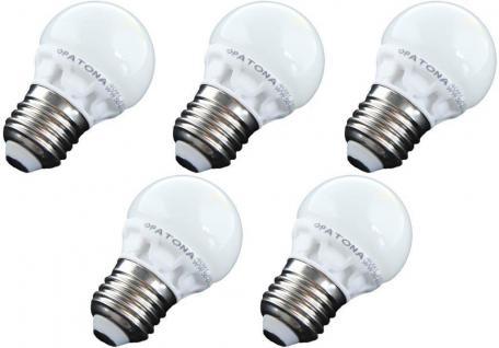 Patona 5x LED-Lampe Mini Birne E27 5, 5W/45W Warmweiß Ball Glühbirne Leuchtmittel