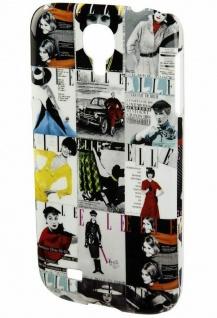 ELLE Vintage Hard-Cover Schale Hülle Bumper Tasche für Samsung Galaxy S4 Mini