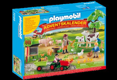 Playmobil Christmas 70189 Adventskalender Auf dem Bauernhof Weihnachten Geschenk