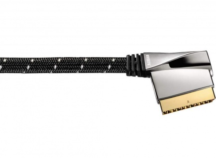 Avinity Scart-Kabel Gold Metall-Stecker RGB Anschlusskabel TV DVD-Player DVB-T2
