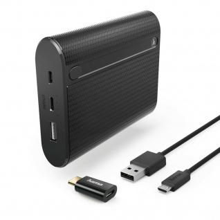 Hama Powerbank 10400mAh Lade-Kabel LED-Anzeige 2 Ausgänge USB-C Adapter