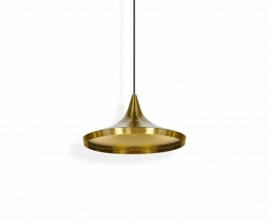 Tom Dixon Beat Shade Wide Brushed Pendant Pendel-Lampe Hänge-Leuchte Messing