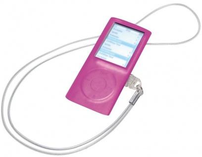 Vivanco Silikon Skin + Lanyard Band Tasche Hülle Etui für Apple iPod Nano 4 4G