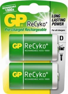 GP PROFI 2x Mono D Akku 5700mAh ReCyko 1000x wiederaufladbar HR20 Batterie Akkus