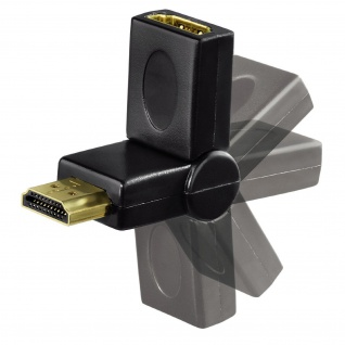 Hama 180° Gelenk HDMI-Adapter Winkel-Stecker Kabel für TV PS4 PS3 Xbox One 360