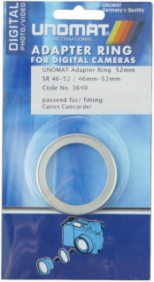 Unomat Filter-Adapter Objektiv 46mm Filter 52mm Adapter-Ring 46-52 mm Step up