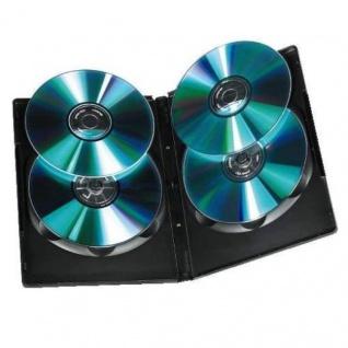 Hama 5x DVD-Hüllen für 4 DVDs 4er 4-Fach Leer-Hülle Box Case CD DVD Blu-Ray Disc