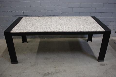 Bieffe Design Schreibtisch 2m Arbeitsplatz Schwarz Granit-Tisch Büro-Tisch Top