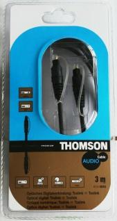 Thomson 3m Toslink-Kabel gold Stecker Optisch SPDIF Digital LWL Kabel ODT DVD MD