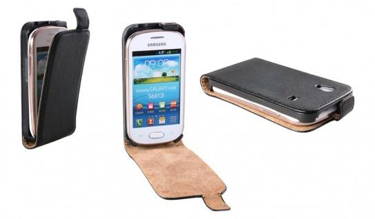 Patona Slim Cover Klapp-Tasche Schutz-Hülle Case für Samsung S5830 Galaxy Ace