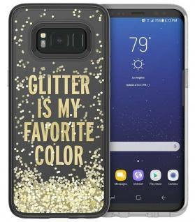 Kate Spade New York Liquid Glitter Cover Hard-Case Hülle für Samsung Galaxy S8