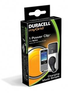 Duracell myGrid Power Sleeve Clip Adapter für Nokia Handy Cover Tasche Ladegerät